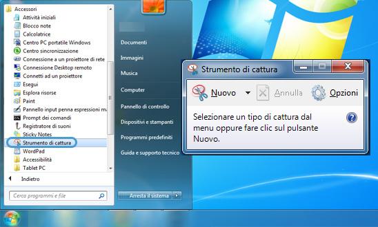 strumento di cattura windows xp