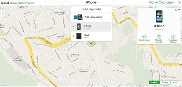 come-localizzare-il-mio-iphone-mappa