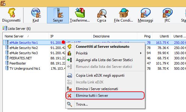 come-connettere-eMule-server