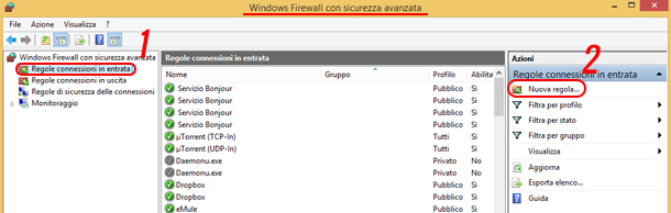 come-connettere-eMule-windows-firewall-aggiungi-regola