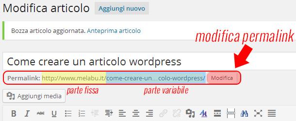 come-creare-un-articolo-wordpress-permalink