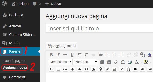 come-creare-una-pagina-aggiungi-nuova