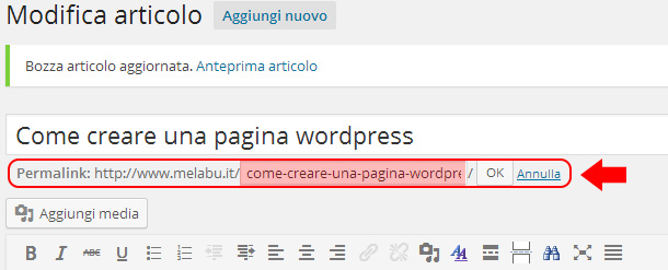 come-creare-una-pagina-wordpress-permalink