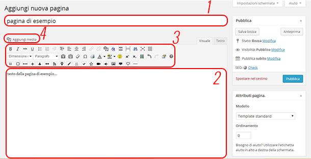 come-creare-una-pagina-wordpress-schermata