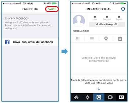 instagram-registrazione