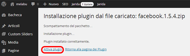 plugin-wordpress-installare