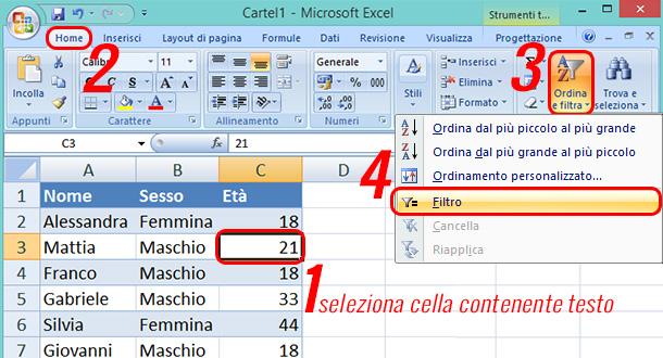 Come-aggiungere-un-filtro-in-Excel