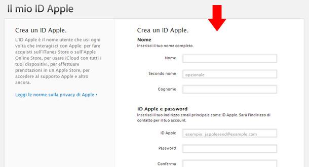 come-creare-un-id-apple-modulo