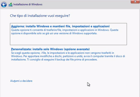 come-installare-windows-otto