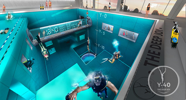 Y 40 la piscina pi profonda del mondo for Piscina y 40 padova