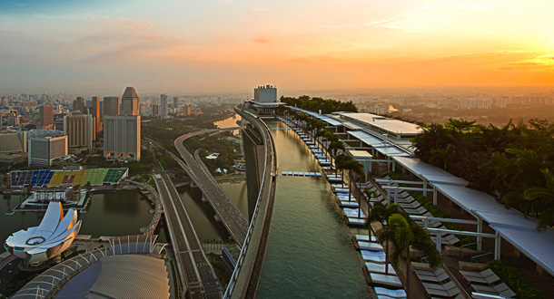 Infinity pool marina bay sands a singapore - Marina bay sands piscina ...