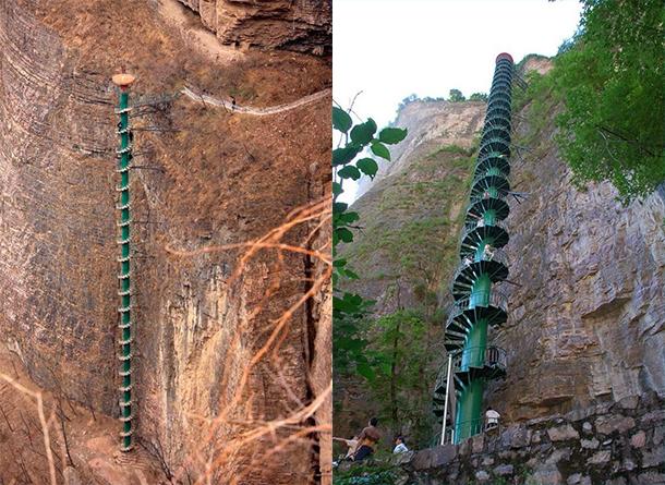 Le scalinate più ripide del mondo-Montagne-Taihang-Cina