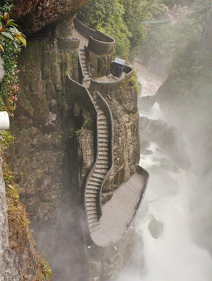 Le scalinate più ripide del mondo-Pailon-del-diablo,-Ecuador