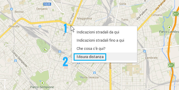 calcolare-distanza-google