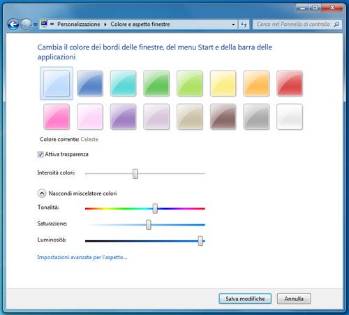 Come cambiare colore alle finestre windows - Cambiare finestre ...