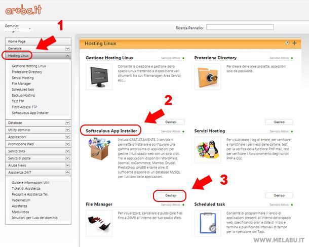 gestisci-app-aruba-wordpress