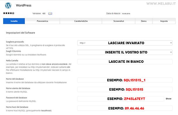 impostare-wordpress-aruba-automatico